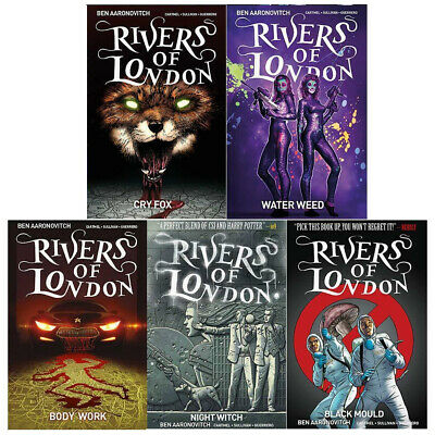 Rivers of London Series (Vol 1-6) Night Witch Black Mould 6 Books Collection Set
