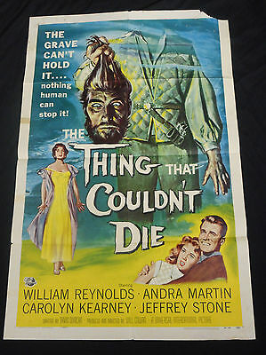The Thing That Couldn't Die 1958 * Great Horror One Sheet Reynold Brown Artwork!