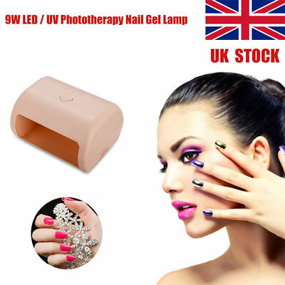 UK STOCK! 9W Manicure Tool 3 High Power LED / UV Phototherapy Nail Gel Lamp 220V
