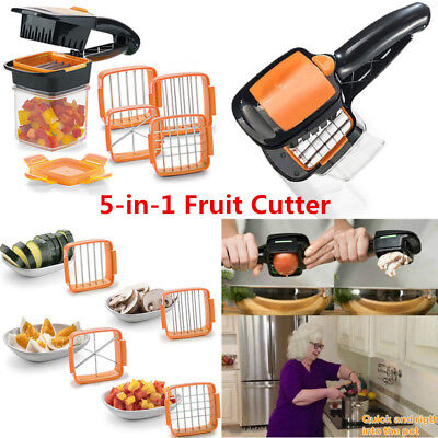 5-in-1 Fruit Cutter Vegetable Dicer Chopper Stainless Steel Multi-functional
