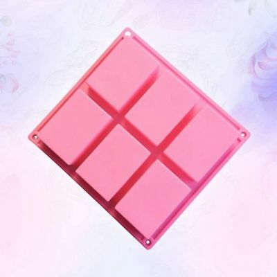6-Cavity Rectangle Soap Mold Silicone Mould Tray for Homemade DIY Making 1PCS