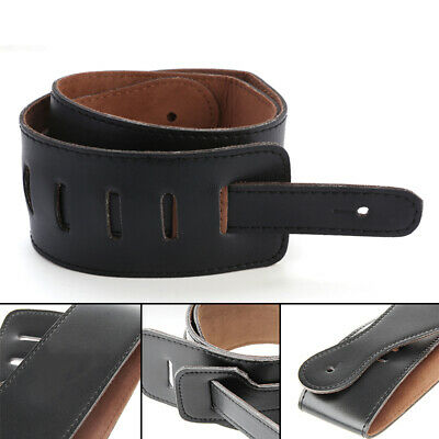 Adjustable PU Leather Thick Shoulder Strap For Electric Acoustic Guitar Bass US