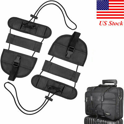 2 Pack Luggage Straps Luggage Bungee Strap Add a Bag Elastic Strap Durable Black