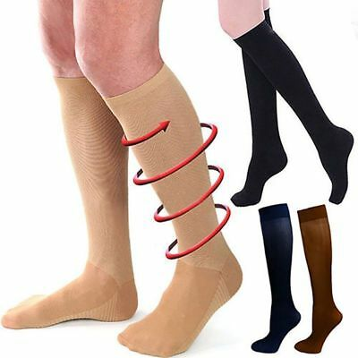 1 Pairs 23-32 mmHg Travel Flight Medical Compression Socks Support Stockings