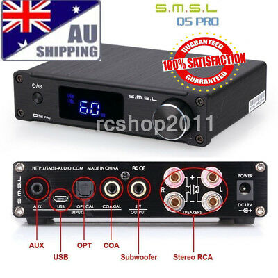 AU SMSL Q5pro USB Coaxial Optical Bass Digital Power Amplifier w/ Remote Control