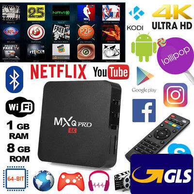 Smart Tv Box Mxq 4K Ultra Hd Android Wifi Quad Core Top Quality