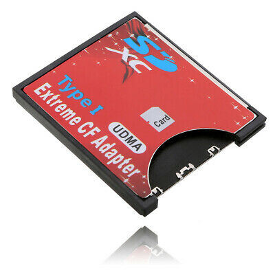 SDXC SDHC SD To CF Compact Flash Memory Card Reader Adapter Convertor Card Cover