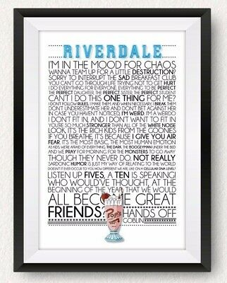 Riverdale Quote Poster *Print*
