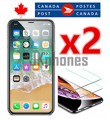 Premium Tempered Glass Screen Protector for iPhone XS MAX (2 Pack)