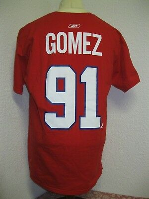 Ancien T-SHIRT CANADIENS MONTREAL GOMEZ NHL HOCKEY sur GLACE Chandail Jersey LNH
