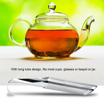 Loose Tea Infuser Leaf Strainer Filter Diffuser Herbal Spice Stainless Steel SD