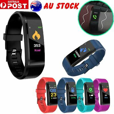 Fitness Tracker Heart Rate Monitor Sport Bracelet Pedometer Smart Watch OD