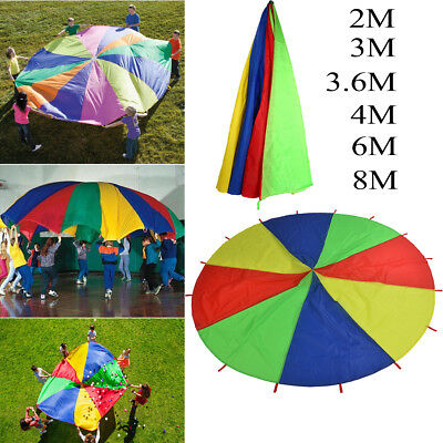6/8M kids play parachute Outdoor Games Rainbow Toy Children Team Exercise Sports
