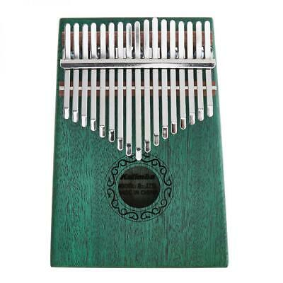17 Key Green Kalimba Single Board Mahogany Thumb Piano Mbira Instrument
