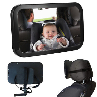 Large Wide View Car Baby Child Inside Mirror View Rear Ward Back Safety UK