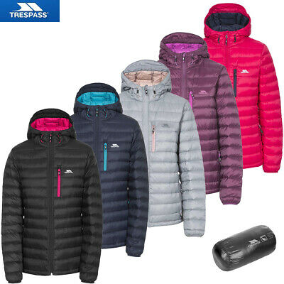 Womens Trespass Arabel Down Jacket with Pouch | Ladies Lightweight Puffer Style