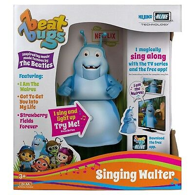 "Beat Bugs Hijinx Alive Technology 6"" Singing Walter Toy Figure Blue"