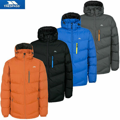 Mens Trespass Blustery Quilted Jacket | Heavyweight Winter Warm Casual Coat