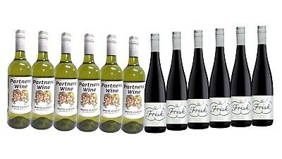 Mix Wine Pack Dinner Party Sampler - 12 x 750ml Free and Fast Delivery