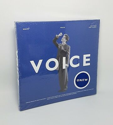 K-POP ONEW SHINee 1st Mini Album [VOICE] Blue Ver. CD+Booklet+Photocard Sealed