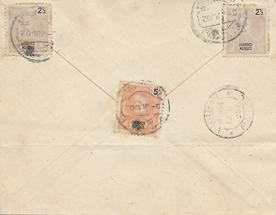 Mocambique 1907 letter to  Durban - Natal