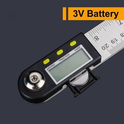 2 in 1 Digital 360°Angle Finder Protractor Stainless Steel Ruler Measur Tool WI1