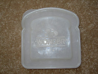 Vintage Wonder Bread Plastic Sandwich Storage Container Lid (Lid Only)