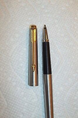 Vintage Parker  Chrome 45 Floating Ball Pen Rollerball very good Condition WORKS