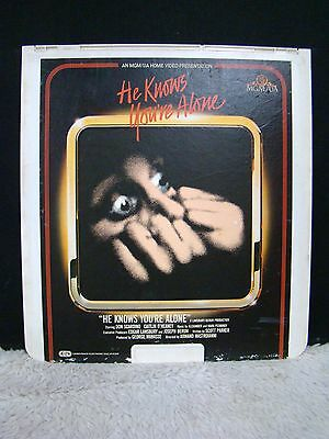 CED VideoDisc He Knows You're Alone, Starring Don Scardino (1980), MGM/UA Home
