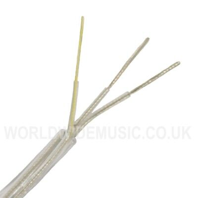 ROUND 3 Core Crystal Clear Transparent Electrical Lighting Cable - 0.5mm  3 amp