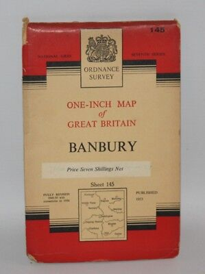 Ordnance Survey - One Inch Cloth Map - Banbury - Sheet 145 - 1953