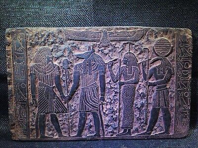 EGYPTIAN ANTIQUE ANTIQUITIES Tutankhamun Seshat Stela Relief 1212-1278 BC