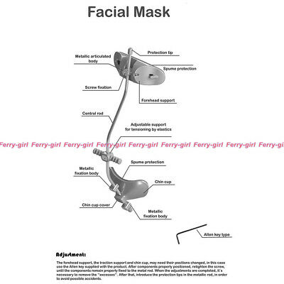 5sets 3m Dental Facemask Multi adjustable Middle Facial mask for Class III
