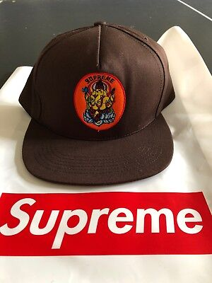 4f69fcb50a519 Supreme Ganesh 5-Panel Snapback Hat Cap Brown SS18H35 SS18 Supreme New York  2018