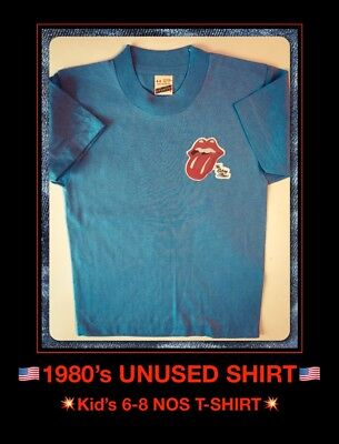 VTG ROLLING STONES Rock Concert USA 80s Childs Childrens Kids Youth NOS T-Shirt
