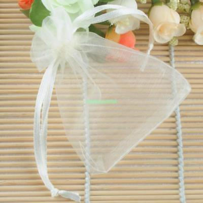 100pcs Strong Sheer Organza Pouch Wedding Jewelry Favor Candy Gift Bags 7x9cm 2