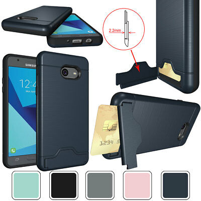 Slim Hybrid Card Holder with Stand Phone Case For Samsung Galaxy A7 A5 A3 2017