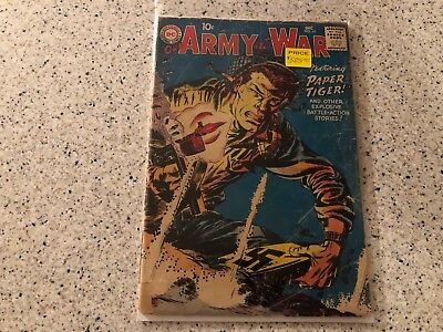 "Our Army at War #65, DC, 1957 ""Paper Tiger"""