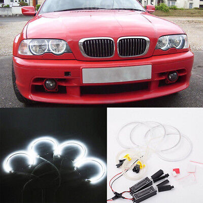 4Pcs CCFL Angel Eye Halo LED Ring Light Non-Projector For BMW E46 3 Series J3S5K