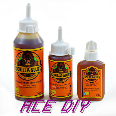 Gorilla Glue Super Waterproof Strong Weatherproof Adhesive Bond Grip Wood Stone