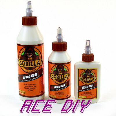 Gorilla Wood Glue | Water Resistant PVA Strong Fast Bond Non Foaming Adhesive