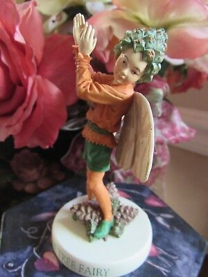 RETIRED! Cicely Mary Barker PINE TREE  Flower FAIRY Figurine On Base NEW #88923