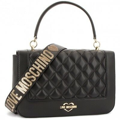 LOVE MOSCHINO BORSA tracolla donna Pu nero gal.oro JC4211PP06KA000A ... 699d09ee708