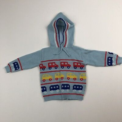 Vtg Childwise Baby Toddler Novelty Hoodie Sweater w/Back Zipper See Measurements