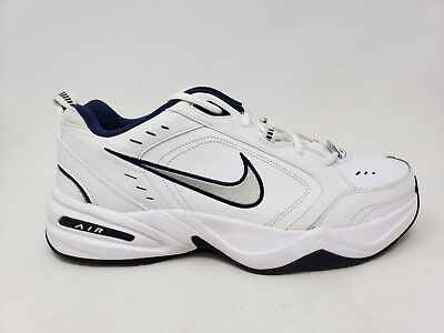 NEW! MEN S NIKE Air Monarch IV Training Shoe 415445-102 White Navy ... 2cbc36414