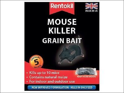 Rentokil Mouse Killer Poison Grain Bait - Pack of 5 Sachets
