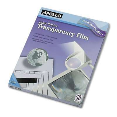 Apollo® B/W Laser Transparency Film, Letter, Clear, 50/Box 718575090097