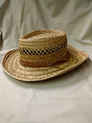 f1923f82 Straw Hat Goldcoast Sunwear Western Leather Braided Band One Size Fits Most