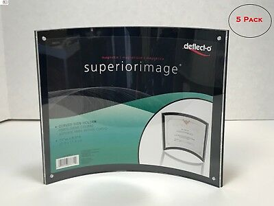 "Deflect-o Superior Image Curved Magnetic Sign Holder, 8-1/2"" x 11"""