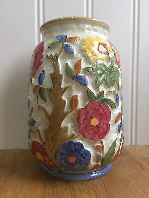 Vintage Indian Tree Hand Decorative Vase By H J Wood